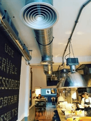 Air conditioning in restaurants